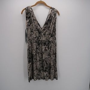 Ann Taylor Loft Elastic Waist Pleated Tunic Dress